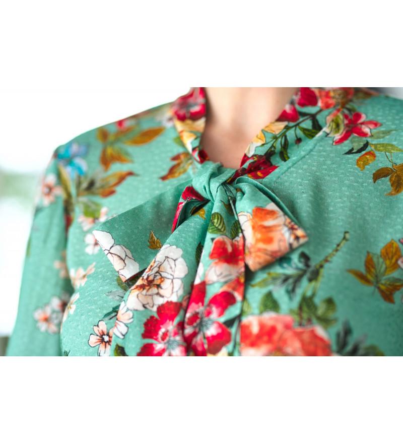 Koszula w kwiaty AVOLA Mint Dream