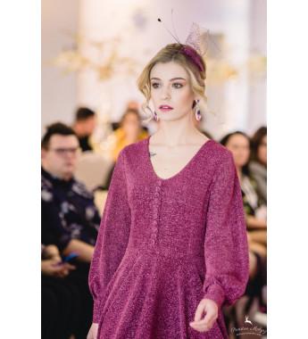 Suknia brokatowa EMMANUELLE Rubinowy Blask