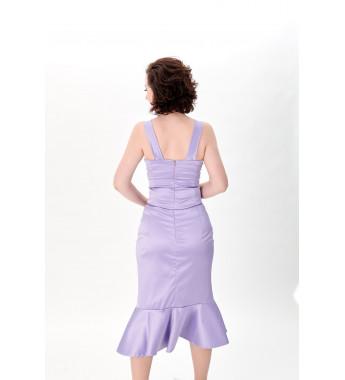 Liliowa Spódnica z falbaną RITA