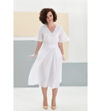 Sukienka z bawełny plumeti EMMA White Dream