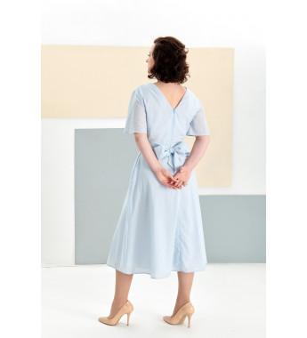 Sukienka z bawełny plumeti EMMA Pastel Blue